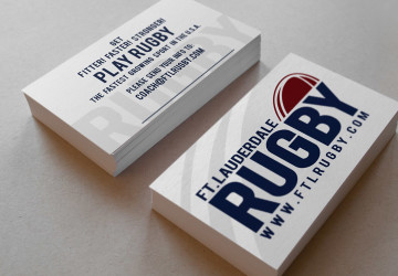 Fort Lauderdale Rugby Club business cards