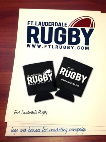 Fort Lauderdale Rugby Club koozie mockup