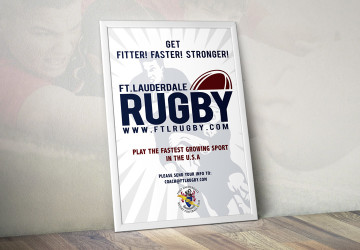 Fort Lauderdale Rugby Club recruiting poster