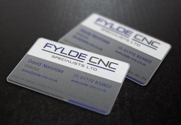 Fylde CNC plastic business cards