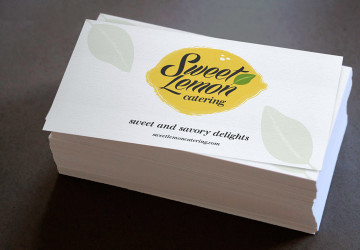 Sweet Lemon Catering logo and business card