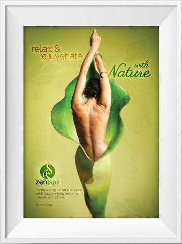 Zen Spa in store marketing