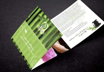 Zen Spa trifold brochure